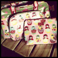 Babushka doll nappy bag & large cosmetic