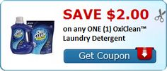 New Coupon!  Save $2.00 on any ONE (1) OxiClean™ Laundry Detergent - http://www.stacyssavings.com/new-coupon-save-2-00-on-any-one-1-oxiclean-laundry-detergent/