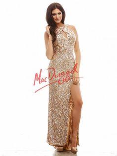 Gold Sequin Prom Dress | Mac Duggal 3434A