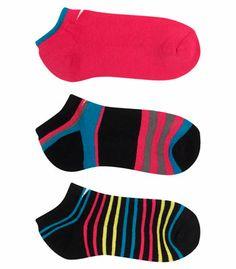 Socquettes semi-coussinées 80 % cotton, 17 % nylon et 3 % élasthanne Talon renforcé Paquet de 3 paires Pointure : M