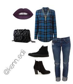 """""""Violet and blue"""" by kennedii on Polyvore featuring MABEL, Equipment, Nly Shoes, Converse and Kenzo"""