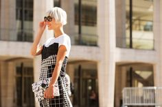 The NYFW Street-Style Looks That Truly Stunned #refinery29  http://www.refinery29.com/2014/09/73987/new-york-fashion-week-2014-street-style-photos#slide66  Black checks, check. White checks, check.