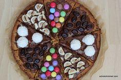 frisch belegte Cookie-Pizza