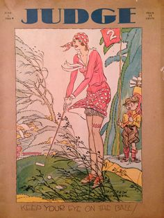 Judge Magazine June 1929 Lady Golfer Cover