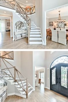 $650,000. Totally renovated beautiful home in Edenwilde. No expense was spared in renovating this home - over $200,000 in upgrades! Newly painted white brick exterior, upgraded light fixtures, hardwoods throughout the home & every bathroom has been updated. #interiordesign #homedecore #home #homerenovation #dining #luxuryhome #terrace Home Renovation, Light Fixtures, Luxury Homes, Terrace, Beautiful Homes, Hardwood, Brick, Stairs, Exterior