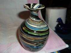 DESERT SANDS ART POTTERY WITH BEAUTIFUL COLOR SWIRL