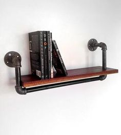 Reclaimed Wood & Pipe Book Shelf – Large