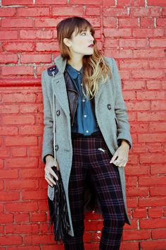 A little winter layering inspo from The Marcy Stop: Plaid Habits