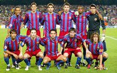 Equipos de fútbol: BARCELONA contra Panathinaikos 02/11/2005