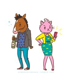 Bojack and Princess Carolyn. Love this little illustration.