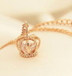 Diamond Heart Crown Necklace from LilyFair Jewelry. Saved to Fashion Jewelry Trend. Cute Jewelry, Bridal Jewelry, Jewelry Necklaces, Gold Bracelets, Cheap Jewelry, Cross Necklaces, Expensive Jewelry, Bridal Earrings, Beaded Jewelry