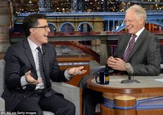 Big shoes: Stephen Colbert is taking over from television legend David Letterman as the host of CBS' Late Night