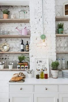 Love the painted brick!