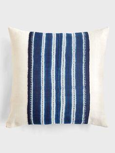Indigo Stripe Pillow by Aboubakar Fofana@ DARA ARTISANS