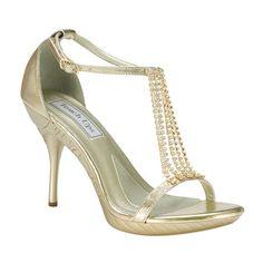 Crystal Falls Gold Cherise Heels