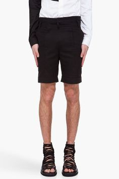 Black 100 Cotton Shorts, Juun.j.   Black Sneaker Sandal, Kis Van Assche.