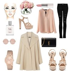 Color Trends S/S 2015: Nude by tiffany-wasp-trixx on Polyvore featuring moda, Warehouse, MANGO, Forever New, Yves Saint Laurent, GUESS, Linda Farrow, philosophy and LSA International