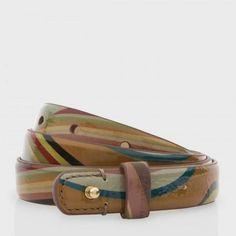 Paul Smith Women's Belts - Swirl Patent Leather Waist Belt