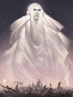 """Mandos by Phobso   Esposo de Vairë. Uno de los Ocho Aratar. Su verdadero nombre es Námo (Quenya, """"Ordenador"""" """"Juez"""") También es conocido como el Juez de los Valar y como el Inamovible, el Justo, el Sabio, el Juez y como la Boca de Manwë. Mandos es junto con su hermano Lórien uno de los Fëanturi (Quenya, """"Amos de los Espíritus"""") y el lugar donde habitualmente reside junto con su esposa se conoce como las Estancias de Mandos (o simplemente Mandos), situadas en el oeste de Valinor."""