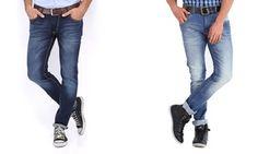 Groupon - 2 paia di jeans da uomo. Varie taglie disponibili a [missing {{location}} value]. Prezzo: €29,99