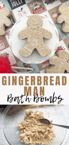 If you are looking for a holiday-themed DIY project that can also make a great gift you are going to want to make some Gingerbread Bath Bombs. This fizzy bath bomb recipe is the PERFECT idea for homemade gifts. Fizzy Bath Bombs, Bath Bombs Scents, Homemade Bath Bombs, Lush Bath Bombs, Homemade Bubbles, Bath Boms, Bombe Recipe, Bath Bomb Recipes, Bath Fizzies
