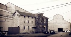 Colonial, and later period house in the middle of a steel plant, Delaware.