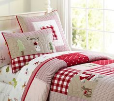 Tuck kids under magical bedding that's perfect for the holidays with Tis The Season Bedding!