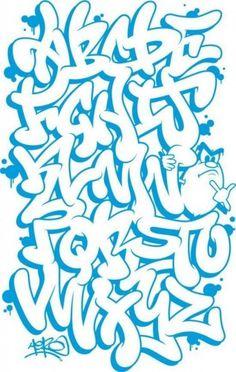 dibujar abecedario o letras en graffiti