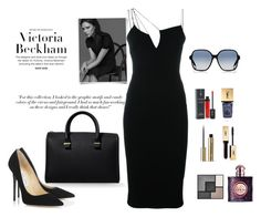 """Sin título #182"" by monivivi on Polyvore featuring moda, Victoria Beckham, Guerlain, Jimmy Choo y Yves Saint Laurent"