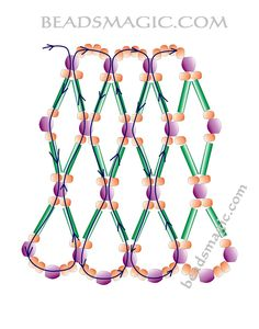 Free pattern for beaded necklace Apricot Jam | Beads Magic