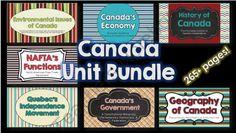 Canada Unit BUNDLE from Brain Wrinkles on TeachersNotebook.com -  (270 pages)  - Canada Unit BUNDLE