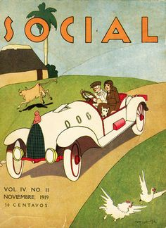 Vintage Cuban magazine. Social revista. Every day life in Cuba 1919