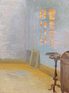 Anna Ancher - Aftensol i kunstnerens atelier på Markvej (1913)