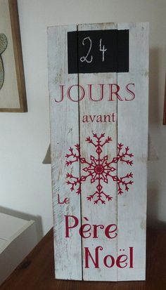 Wooden sign for Christmas. decoration – Famous Last Words Handmade Christmas Decorations, Easy Christmas Crafts, Simple Christmas, Noel Christmas, Yule Decorations, Diy Crafts To Do, Diy Advent Calendar, Christmas Inspiration, Wooden Signs