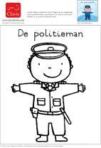 Kleurplaten Politieagent.Politieman Kleurplaat Liesbet Slegers Politie Politie Politie