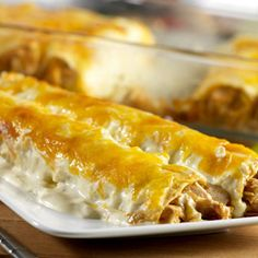 A great way to use any leftover cooked turkey, these enchiladas are sure to please your family for a busy weekday meal.