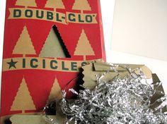 Vintage Doubl-Glo Silver Tinsel Icicles Christmas Holiday Tree Decoration