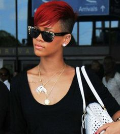 Long Hair, Short Hair, and More - Rihanna with Shaved Hair Parts - Coolspotters