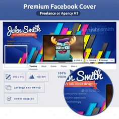 Freelance Or Agency FB Cover V1 Facebook Template Timeline Covers Creative