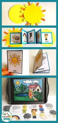 Try these fun weather themed vocabulary activities  - includes foldables, craftivity and center activities.