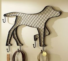 Doggie Row of  Hooks #potterybarn