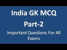 India GK MCQ Part-2 | GK India Videos