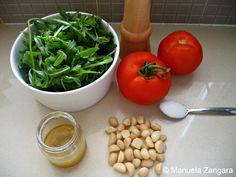 Roasted Tomato, Rocket and Macadamia Salad
