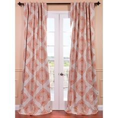 This Henna curtain panel features a blackout design with a lovely beige/burnt orange pattern. The fabric is soft with a refined texture made with a special polyester yarn and these curtains keep the light out while providing optimal thermal insulation.