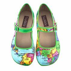 6bd3455b13f4 Chocolaticas® Bon Voyage Women s Mary Jane Flat. Quirky ShoesTrendy ShoesYour  ShoesBon VoyageHot Chocolate DesignChocolate ...