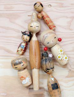 Koneshi dolls (vintage) maybe?  or vintage inspired ... 'sisters' of Matroyshkas.  Koneshi's are Japan's alternate version ...