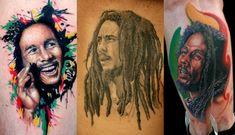 Tatuajes de un gran representante de la música reggae como lo es Bob Marley.