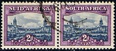 South Africa 1950 Union Building Pair Fine Used    SG 134 Scott 56 Other Commonwealth Stamps for sale here