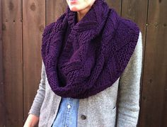 """Cowl of my dreams...is, is that I made it bigger, knittingone extra repeat of the chart in both directions. (So <span class=""""best-highlight"""">6 repeats instead of 5 horizontally; 5 repeats instead of 4</span> vertically.) Which used all of 3 skeins of yarn."""