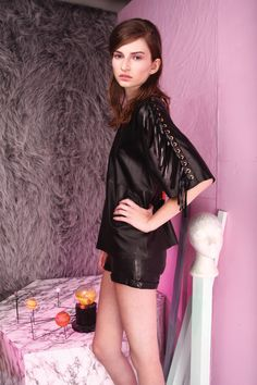 tba(to be adored) marcella leather top